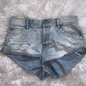 Roxy distressed denim shorts